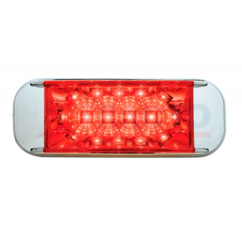 16 LED REFLECTOR rectangular - LED ROJA/LENTE ROJO